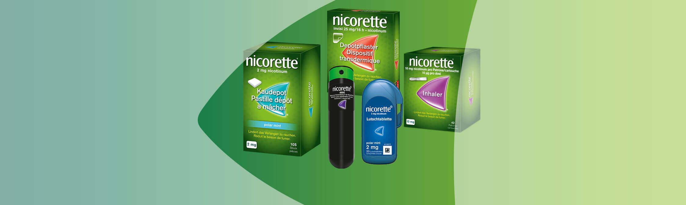 Aperçu des produits Nicorette