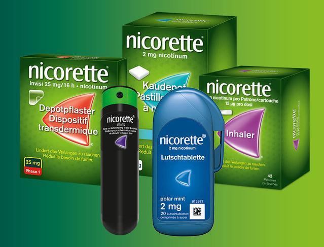 Nicorette Produktübersicht